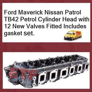 Ford Maverick Nissan Patrol TB42 Petrol Cylinder Head with valves fitted
