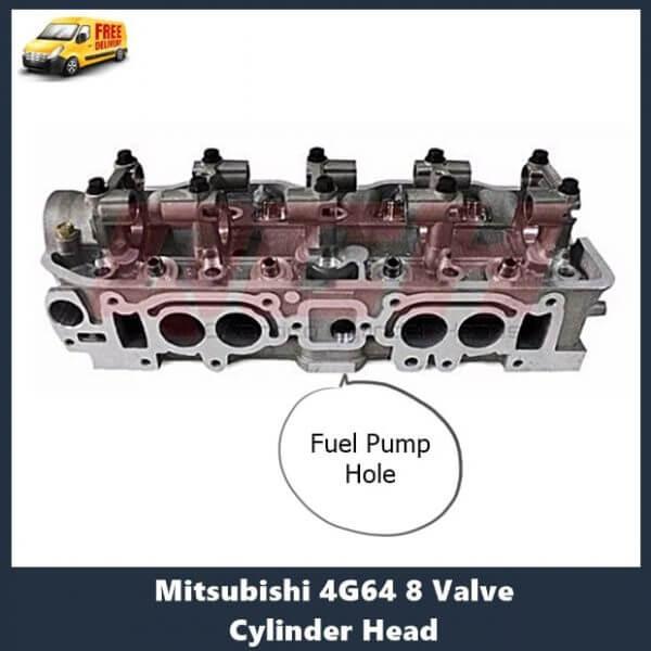 Mitsubishi 4G64 8 Valve Cylinder Head with fuel pump hole