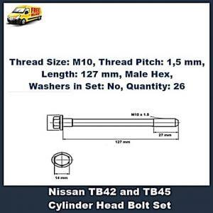Nissan TB42 cylinder head bolt set
