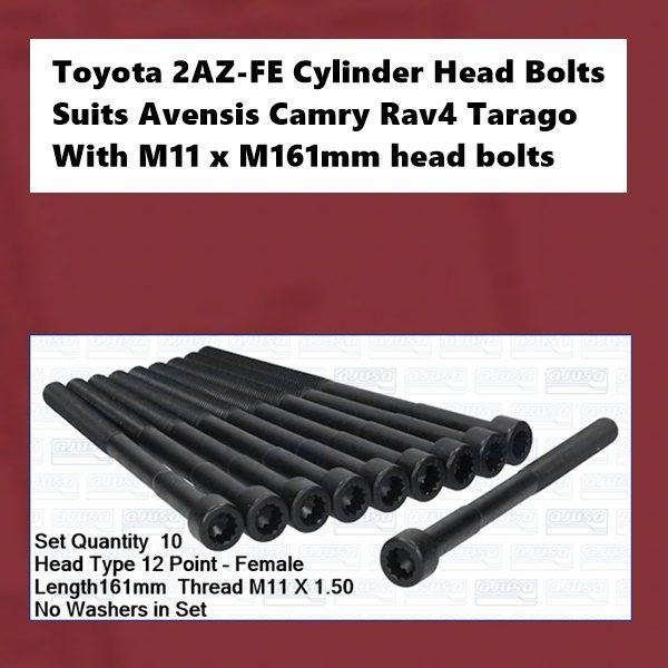 Toyota 2AZ-FE Cylinder Head Bolts
