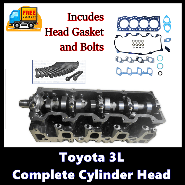 Toyota 3L Complete Cylinder Head