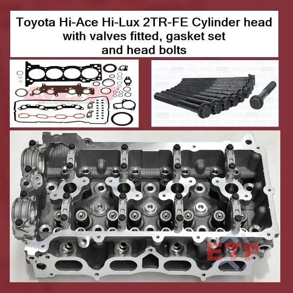 Toyota Hi-Ace Hi-Lux 2TR-FE Cylinder head with valves fitted