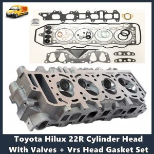 Toyota Hilux 22R Cylinder Head With Valves + Vrs Head Gasket Set