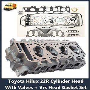 Toyota Hilux 22R Cylinder Head With Valves + Vrs Head Gasket Set