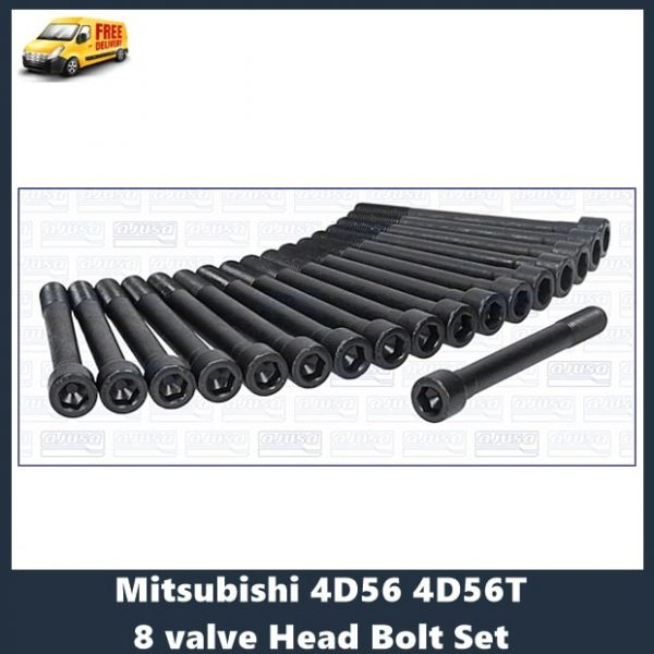 Mitsubishi 4D56 4D56T 8 valve Head Bolt Set
