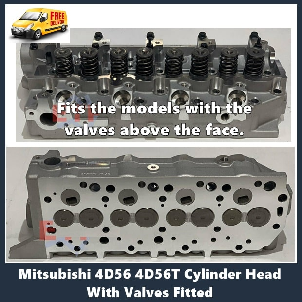 Mitsubishi 4D56 4D56T Cylinder Head With Valves Fitted