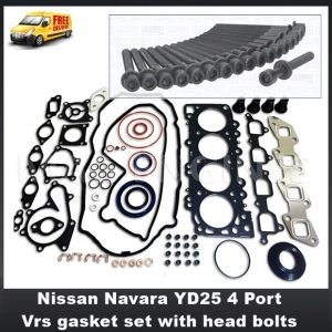 Nissan Navara YD25 4 Port Vrs gasket set with head bolts