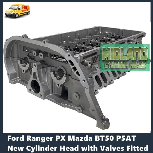 Ford Ranger PX Mazda BT50 P5AT New Cylinder Head with Valves Fitted
