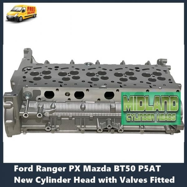 Ford Ranger PX P5AT New Cylinder Head with Valves Fitted-