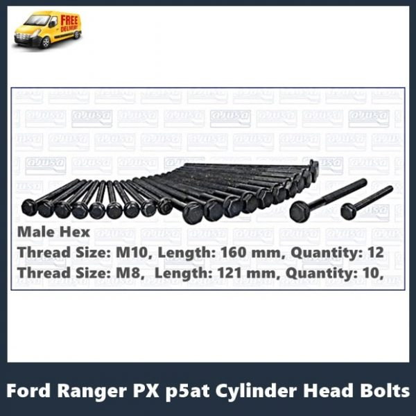 Ford Ranger PX p5at cylinder head bolts