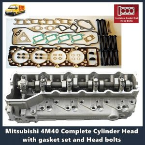 Mitsubishi 4M40 non turbo Complete Cylinder Head with gasket set and Head bolts