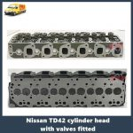Nissan TD42 cylinder head with valves fitted