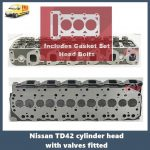 Nissan-TD42T-cylinder-head-with-valves-fitted