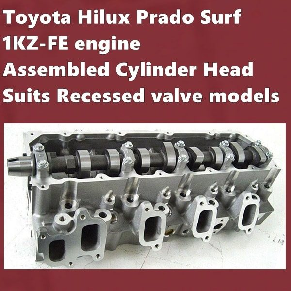 1KZ-FE engine Assembled Cylinder Head Suits Recessed valve models