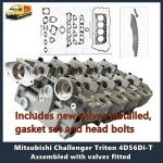 Mitsubishi Challenger Triton 4D56Di-T Cylinder Head Assembled with valves fitted