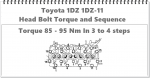 1DZ 1dz-11 head bolt sequence and tension-