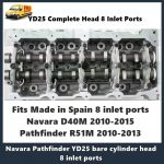 Nissan YD25 Complete Head 8 Inlet Ports