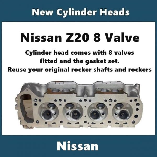 Nissan Z20 cylinder head with valves fitted