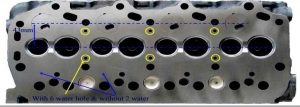 Toyota 1DZ early cylinder head-