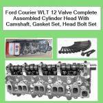 Ford Courier WLT 12 Valve Complete Assembled Cylinder Head With Camshaft, Gasket Set, Head Bolt Set