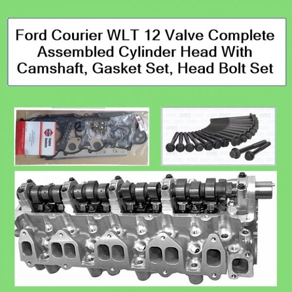 Ford Courier WLT 12 Valve Complete Assembled Cylinder Head With Camshaft, Gasket Set, Head Bolt Set