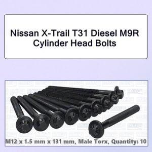Nissan X-Trail T31 Diesel M9R Cylinder Head Bolts