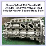 Nissan X-Trail T31 Diesel M9R Cylinder Head With Valves Fitted Includes Gasket Set and Head Bolts