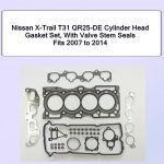 Nissan X-Trail T31 QR25-DE Cylinder Head Gasket Set With Valve Stem Seals Fits 2007 to 2014