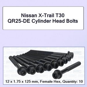 X-Trail T30 up to 2004 with Internal Hex Cylinder Head Bolts