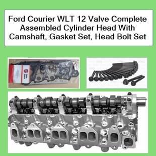Ford Courier WLT 12 Valve Complete Assembled Cylinder Head With Camshaft Gasket Set Head Bolt Set