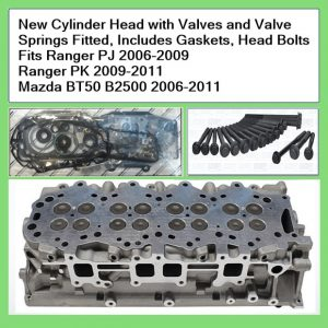 Ranger New Cylinder Head with Valves and Valve Springs Fitted, Includes Gaskets, Head Bolts