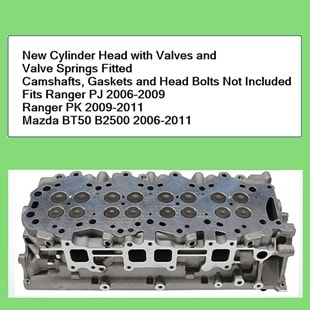 Ranger New Cylinder Head with Valves and Valve Springs Fitted