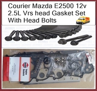 Ford Courier Mazda WLT 12 Valve Vrs Head Gasket Set with Head Bolt Kit
