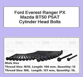 Ford Everest Ranger PX Mazda BT50 P5AT Cylinder Head Bolts