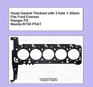 Head Gasket Thickest with 3 hole 1.20mmFord Everest Ranger PX Mazda BT50 P5AT