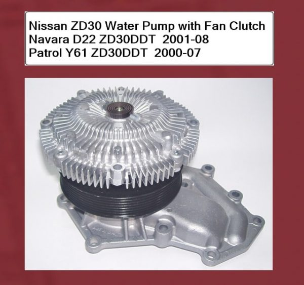 Nissan ZD30 Water Pump with Fan Clutch