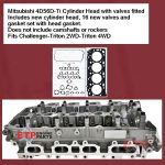 Mitsubishi 4D56D-Ti Cylinder Head with valves fitted