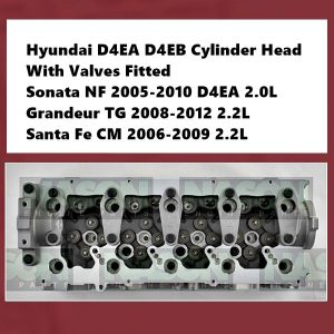 Hyundai D4EA D4EB Cylinder Head With Valves Fitted