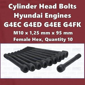 Cylinder Head Bolts Hyundai G4FK G4EE G4EC G4ED engines