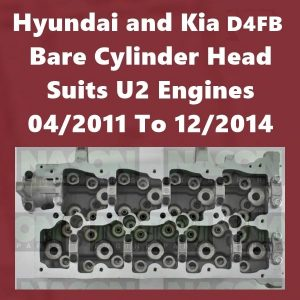 Hyundai and Kia D4FB Bare cylinder head