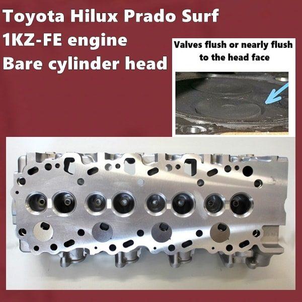 1KZ-FE engine Bare cylinder head long valves