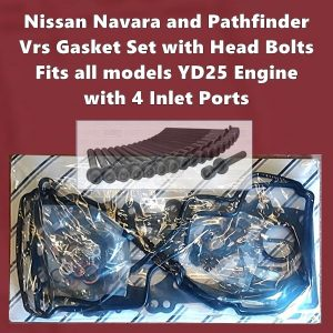 Nissan Navara and PathfinderYD25 vrs gasket set with head bolts 4 inlet ports