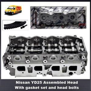 Nissan YD25 assembled cylinder head