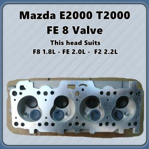 Mazda FE F2 F8 8v Cylinder Head Assembled
