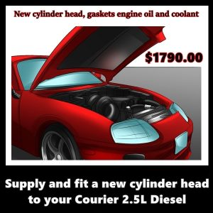 Supply and fit a new cylinder head to your Courier 2.5L Diesel