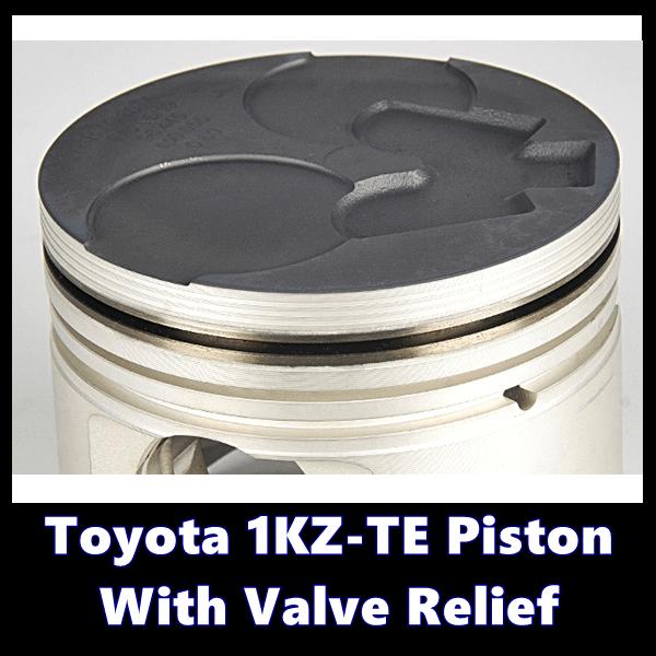 Toyota 1KZ-TE Piston With Valve Relief