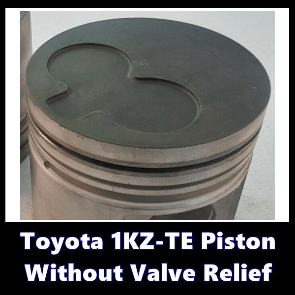 Toyota 1KZ-TE Piston Without Valve Relief