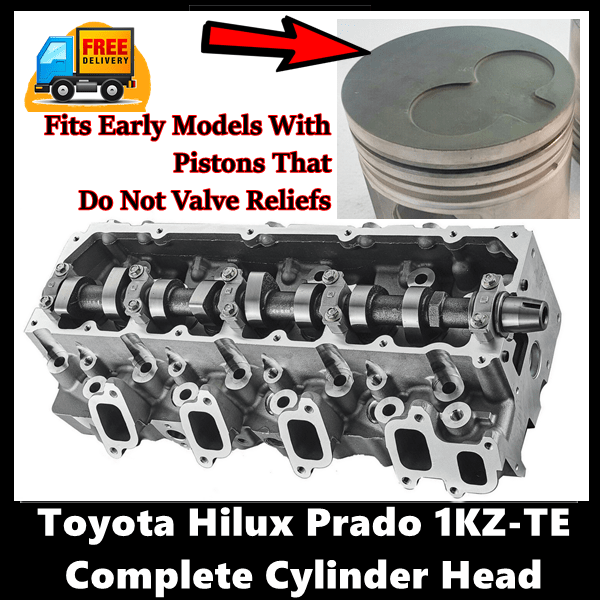 Toyota Hilux Prado Surf 1KZ-TE Complete Cylinder Head with Gasket Set with Head Bolts Early
